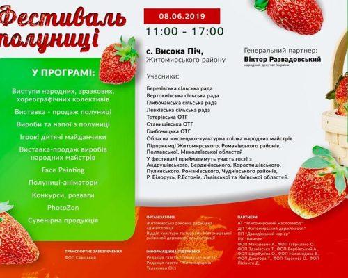 Завтра відбудеться перший на Житомирщині Фестиваль полуниці