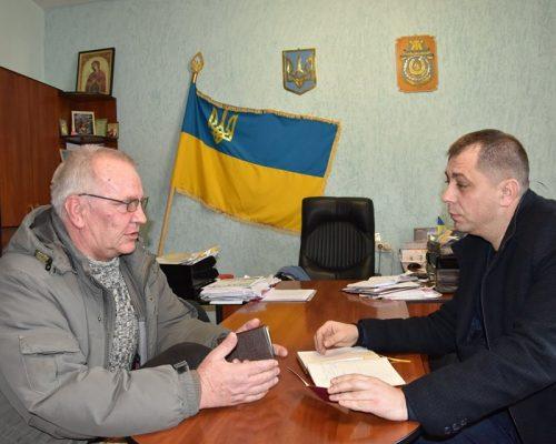 Голова райдержадміністрації провів виїзний прийом громадян у смт Новогуйвинське