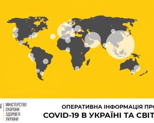 В Україні зафіксовано 549 випадків коронавірусної хвороби COVID-19