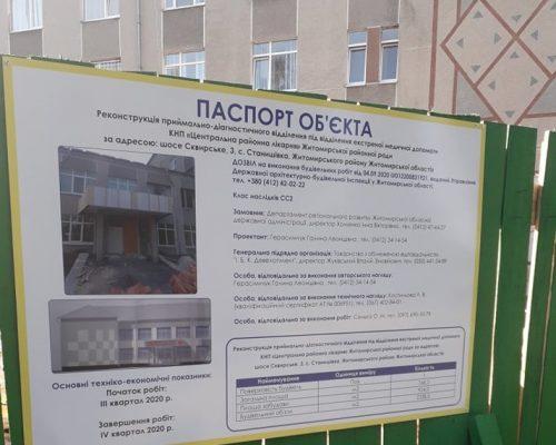 Велике будівництво на Житомирщині: роботи з реконструкції приймального відділення в КНП «ЦРЛ» увійшли в активну стадію