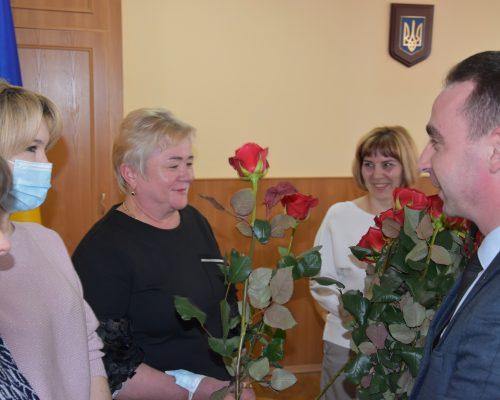 Юрій Денисовець привітав жінок райдержадміністрації зі святом 8 березня