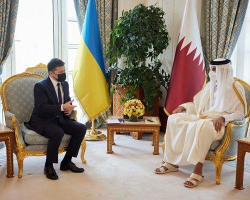 Президент України та Емір Катару обговорили перспективи розширення торговельно-економічного та інвестиційного співробітництва